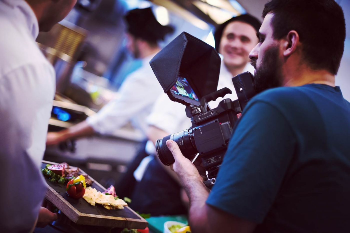 commercial videography team shoots video in Charlotte